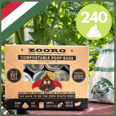 Zooro - PoopHero lebomló és komposztálható kakizacsi 240db