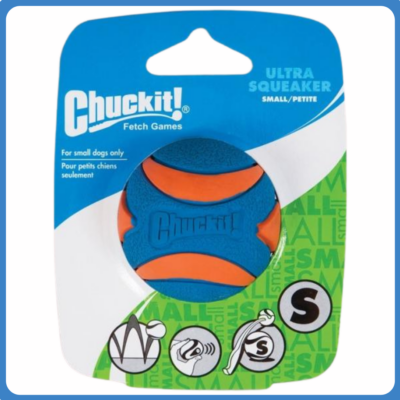 CHUCKIT Ultra Squeaker labda (S)