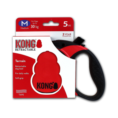 Kong szalagos póráz piros, M méret