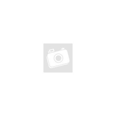 Vintage bőr nyakörv fekete fém csattal mustársárga színben