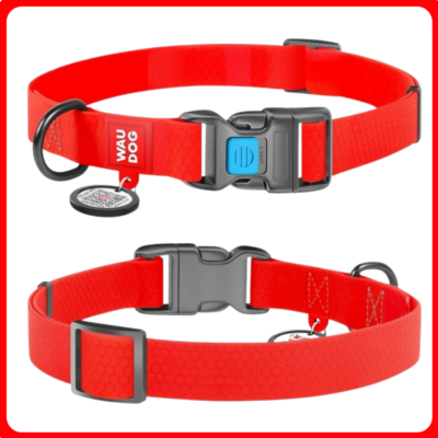 WAUDOG vízálló nyakörv smart ID bilétával - piros