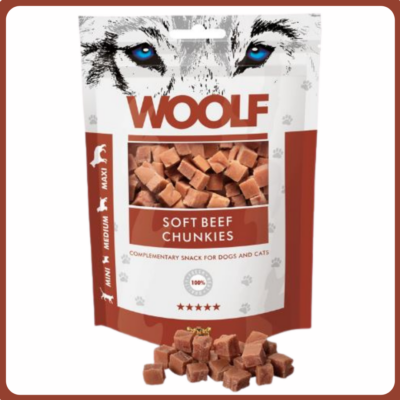 Woolf marhahús kockák tréningre 100g